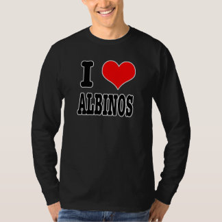 I HEART (LOVE) ALBINOS T-Shirt