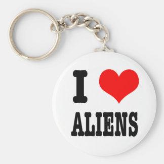 I HEART (LOVE) ALIENS KEYCHAIN