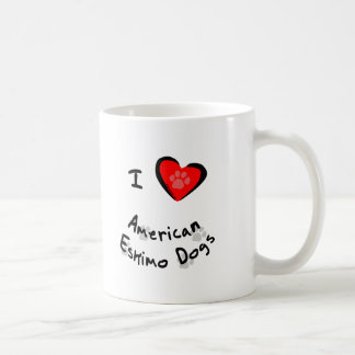 I Heart (Love) American Eskimo Dogs Coffee Mug
