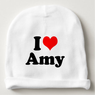 I Heart / Love Amy Baby Beanie