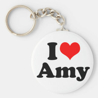 I Heart / Love Amy Keychain