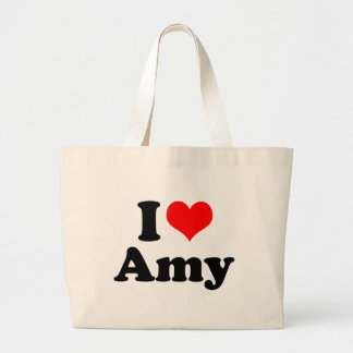 I Heart / Love Amy Large Tote Bag