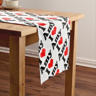 I Heart / Love Amy Short Table Runner