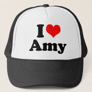 I Heart / Love Amy Trucker Hat