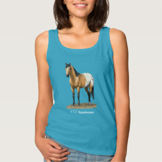 I Heart (Love) Appaloosa Horses Tank Top