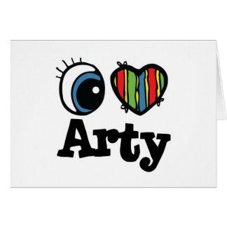 I Heart (Love) Arty Greeting Card