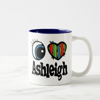 I Heart (Love) Ashleigh Two-Tone Coffee Mug