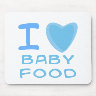 I Heart (Love) baby food Mouse Pad