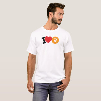 I Heart (Love) Bitcoin Logo Symbol Crypto T-Shirt