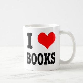 I HEART (LOVE) BOOKS CLASSIC WHITE COFFEE MUG