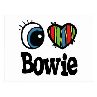 I Heart (Love) Bowie Postcard