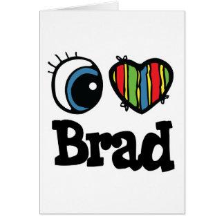 I Heart (Love) Brad Greeting Card