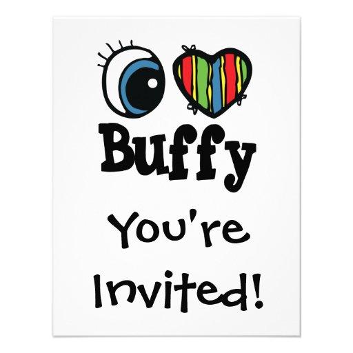I Heart (Love) Buffy Personalized Invitation