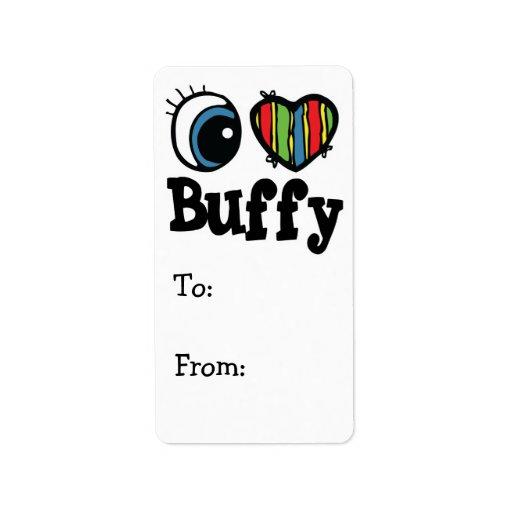 I Heart (Love) Buffy Personalized Address Labels