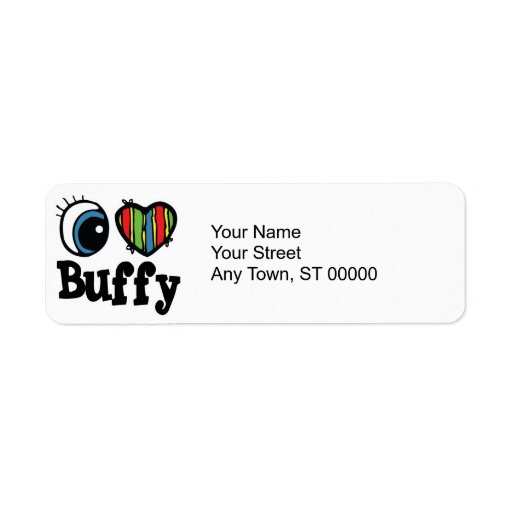 I Heart (Love) Buffy Return Address Label