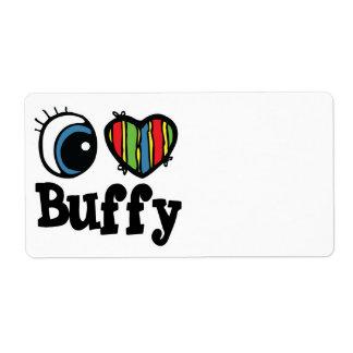 I Heart (Love) Buffy Shipping Labels