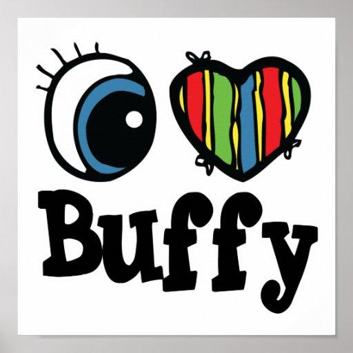 I Heart (Love) Buffy Print