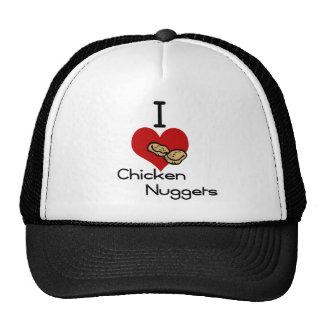 I heart-love chicken nuggets trucker hat