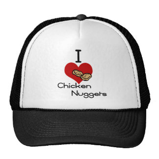 I heart-love chicken nuggets trucker hat