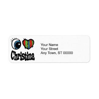 I Heart (Love) Christina Return Address Label