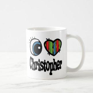 I Heart (Love) Christopher Classic White Coffee Mug