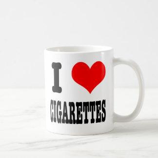I HEART (LOVE) CIGARETTES CLASSIC WHITE COFFEE MUG