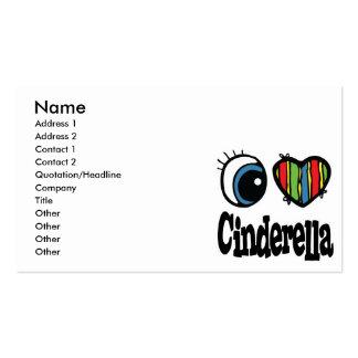 I Heart (Love) Cinderella Business Card