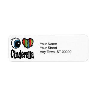 I Heart (Love) Cinderella Return Address Label