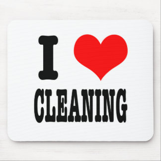 I HEART (LOVE) CLEANING MOUSE PAD