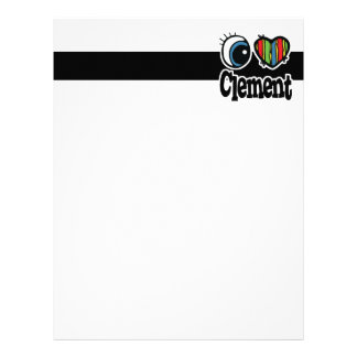 I Heart (Love) Clement Personalized Letterhead