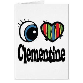 I Heart (Love) Clementine Greeting Card