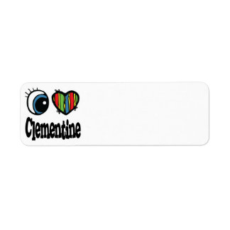 I Heart (Love) Clementine Return Address Label