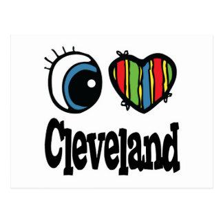 I Heart (Love) Cleveland Postcard