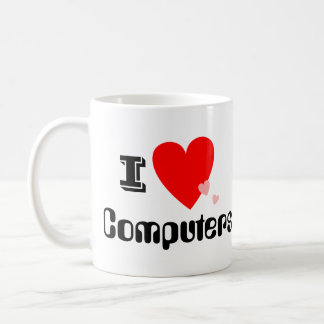 I Heart (Love) Computers Mug