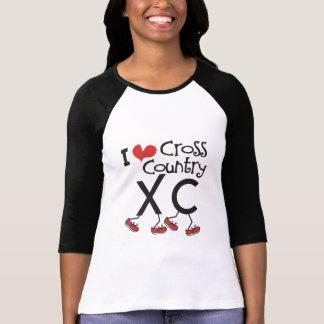 I heart (love) Cross Country Running XC T Shirt