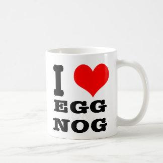 I HEART (LOVE) EGG NOG CLASSIC WHITE COFFEE MUG
