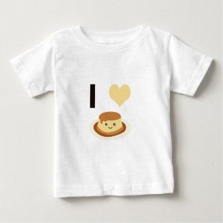 I Heart (love) flan! Baby T-Shirt