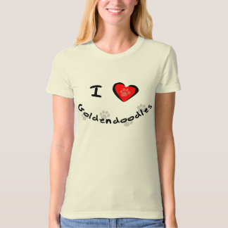 I Heart - Love Goldendoodles T-Shirt
