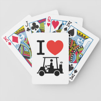 I Heart (Love) Golf Cart Poker Deck