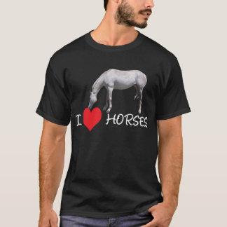 I Heart (Love) Horses - White Horse T-Shirt