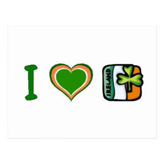 I Heart (Love) Ireland Postcard