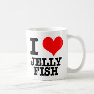 I HEART (LOVE) JELLY FISH CLASSIC WHITE COFFEE MUG