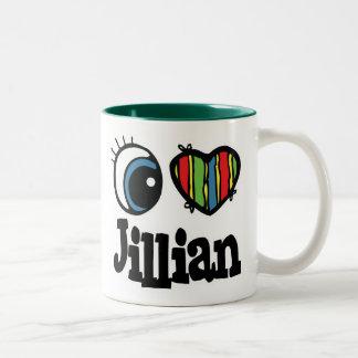 I Heart (Love) Jillian Two-Tone Coffee Mug