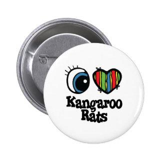 I Heart Love Kangaroo Rats Pinback Button