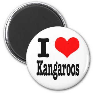 I HEART (LOVE) kangaroos 2 Inch Round Magnet