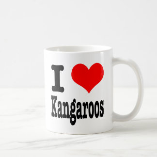 I HEART (LOVE) kangaroos Basic White Mug