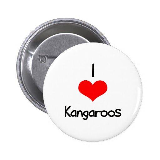 I Heart (Love) Kangaroos Pin