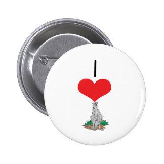 I Heart (Love) Kangaroos Buttons