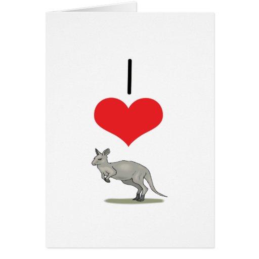 I Heart (Love) Kangaroos Cards