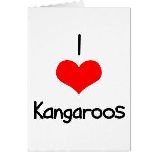 I Heart (Love) Kangaroos Greeting Card